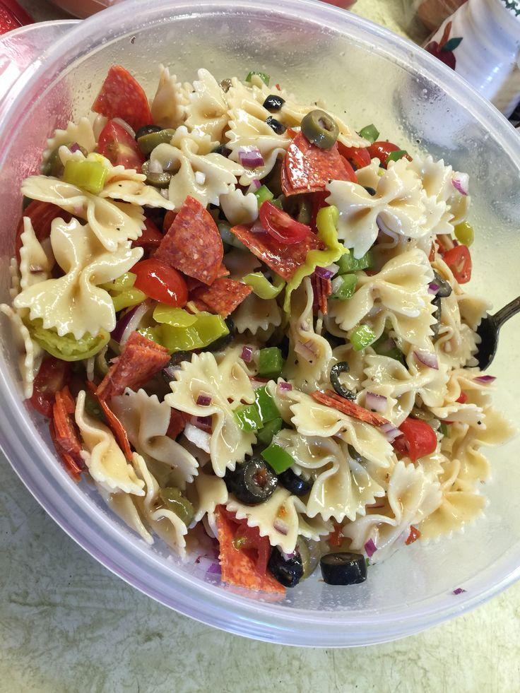 My Favorite Pasta Salad 1 2 Lb Bow Tie Pasta 1 2 Red Onion
