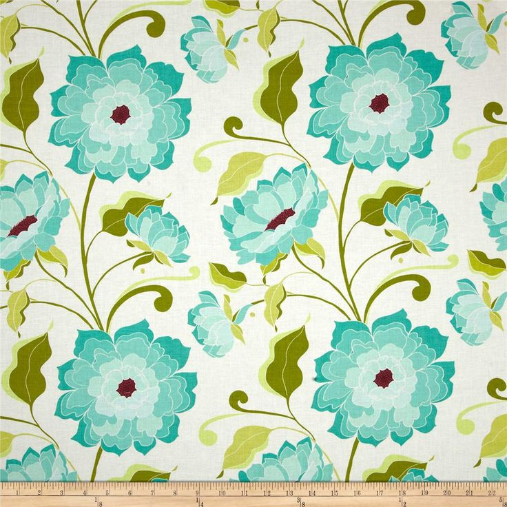 Riley Blake Halle Rose Main White from @fabricdotcom  Designed by Lila Tueller Designs for Riley Blake, this cotton print fabric is perfect for quilting, apparel and home decor accents. Colors include shades of aqua, deep magenta, shades of green, and white.