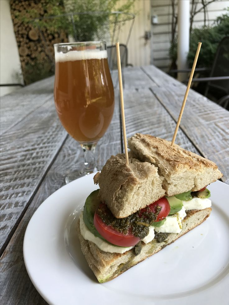 Sunday sandwich lunch with beer ^^