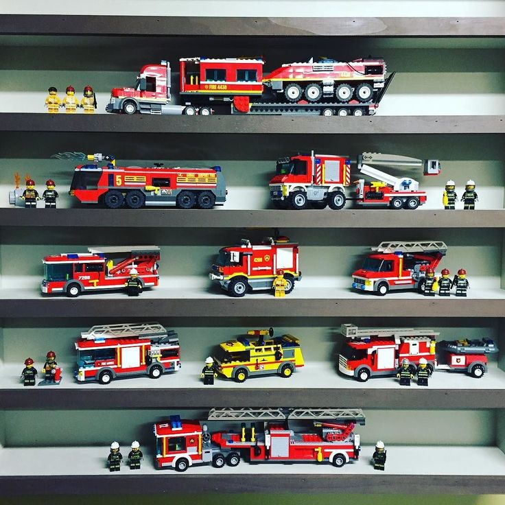 The fire truck shelf continues to grow.