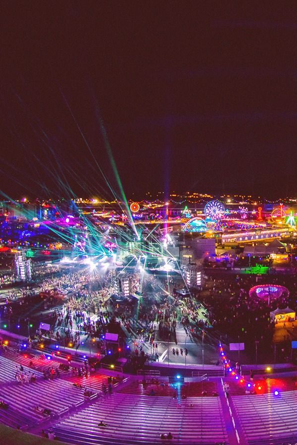 My favorite place. Under the electric sky. #edc #rave