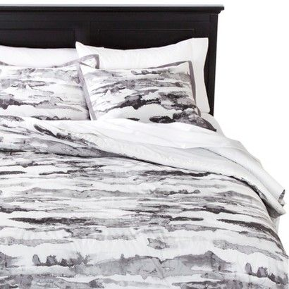 Abstract Watercolor Striae Comforter Set From Target