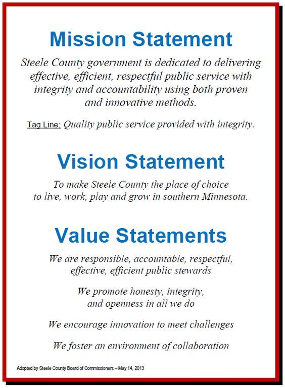 Mission Vision Values Statements  Successful tips