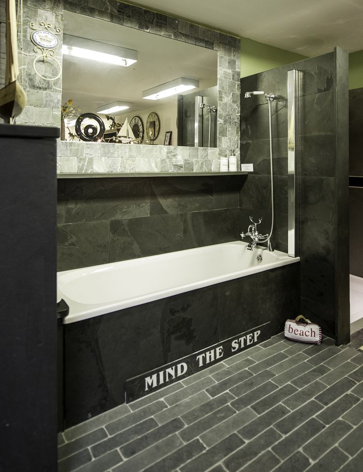 8 best Contemporary Bathrooms with Slate Bath Surrounds and Tiles ...