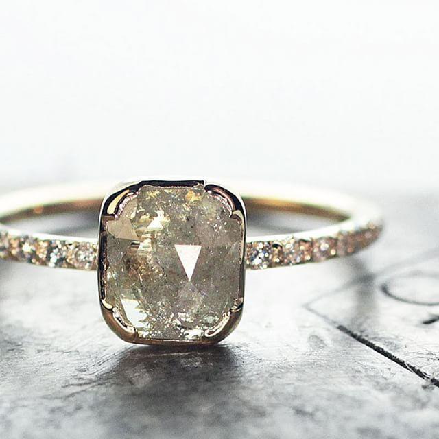 Custom natural diamond ring. chincharmaloney.com