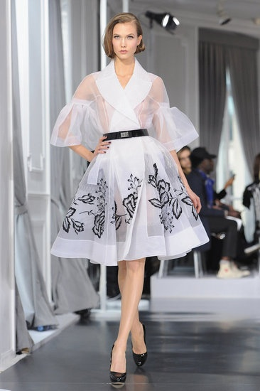 Paris Fashion Week spring 2012 - Christian Dior's nod to vintage... most of these would be wearable only with an extra layer beneath, but how beautiful!