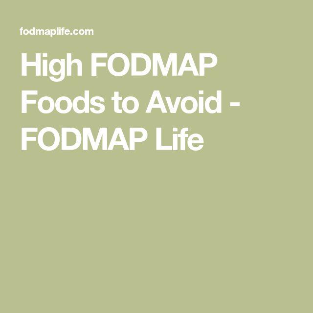 High FODMAP Foods to Avoid - FODMAP Life