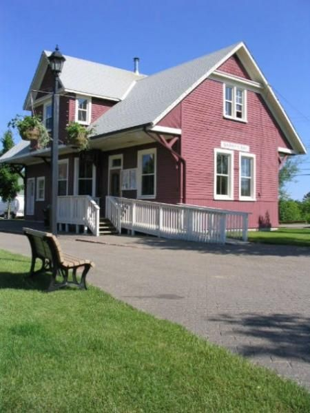 South of 60 Art Centre, Barry's Bay, Ontario. Use to be the old railroad station.