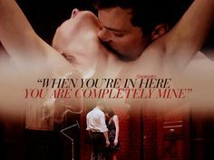 "Jamie Dornan and Dakota Johnson Fifty shades of grey movie https://www.pinterest.com/lilyslibrary/ ""When you're in here you are completely mine"""