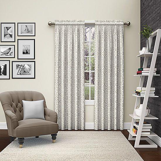 Ellery Homestyles Pinkney Rod Pocket Curtain Panel Curtains Rod