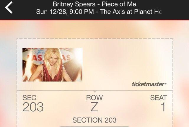 Britney Spears Tickets #britney
