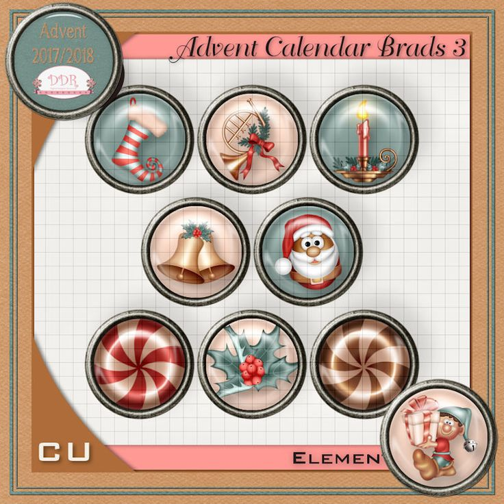 Adventcalender and Countdown to 2018 : Digital Designer Resources, Your one stop shop for Commercial Use Products!