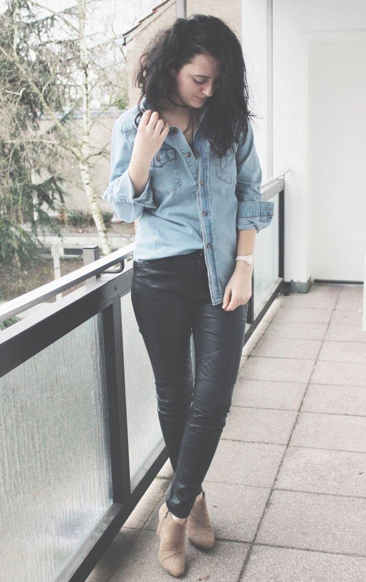 new look on the blog #denimshirt #romwe https://fashionablestreets.blogspot.de/2017/02/the-denim-shirt.html #ootd