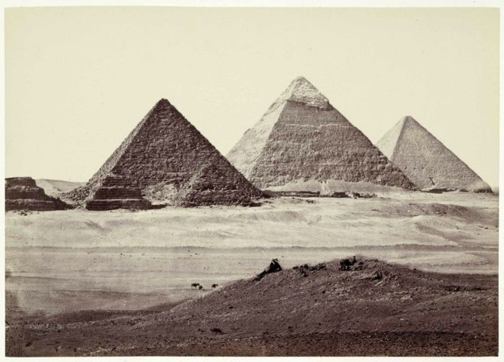 Francis Frith (1822-1898) De piramiden van Gizeh, Egypte / The Pyramids of Giza, Egypt, 1856-1859. Rijksmuseum, Amsterdam, RP-F-F80272.