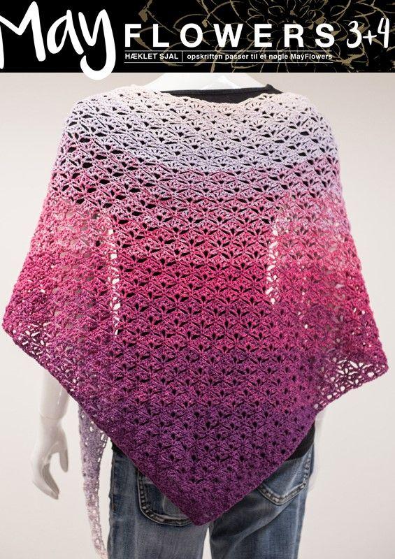<p>Dette smukke flotte ekstravagante lækre sjal hækles for et helt unikt udseende. Det changerer smukt tone i tone uanset hvilken