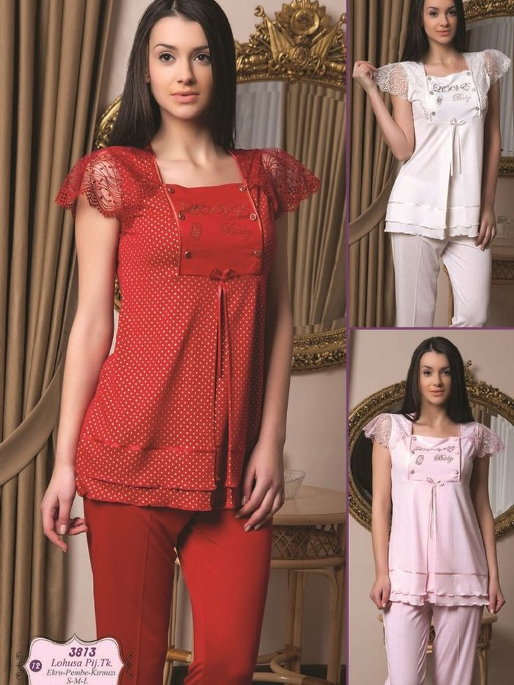 Bone 3813Hamile Pijama Takım; Penye kumaştan üretilen hamile pijama takım modelidir.