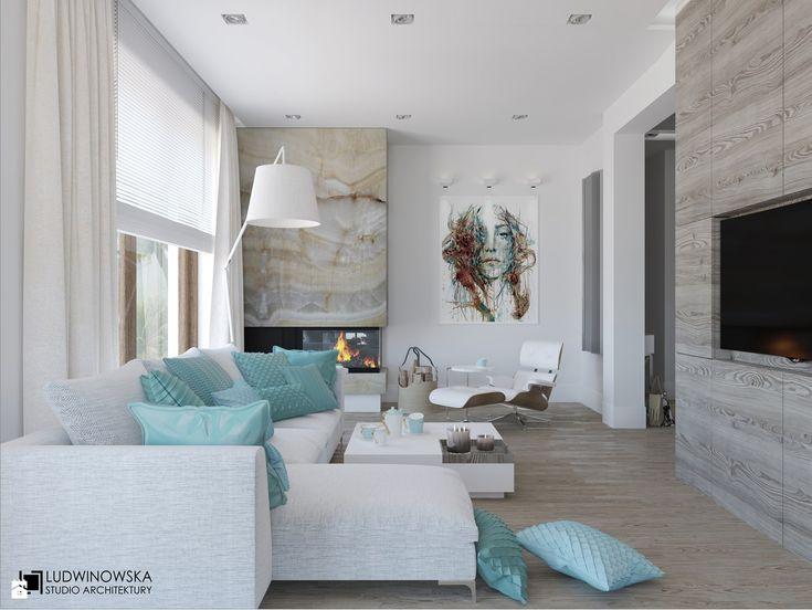 Salon styl Minimalistyczny - zdjęcie od Ludwinowska Studio Architektury - Salon - Styl Minimalistyczny - Ludwinowska Studio Architektury