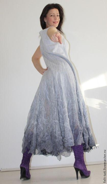 Купить или заказать Платье ' Luxury gray' в интернет-магазине на Ярмарке Мастеров. Платье ' Luxury gray' Сделаю на заказ цена - 25000 р Фантастически красивое платье, нежное, легкое, в этом платье Вы будите неотразимы!!! Модель позволяет придать повседневному образу выразительную элегантность. Ни к чему не обязывающее - носить можно куда угодно. Фасон - длинное прямое платье с расклешенной юбкой!!!! Струящаяся ткань и широкая юбка прекрасно удлиняют и стройнят фигуру.
