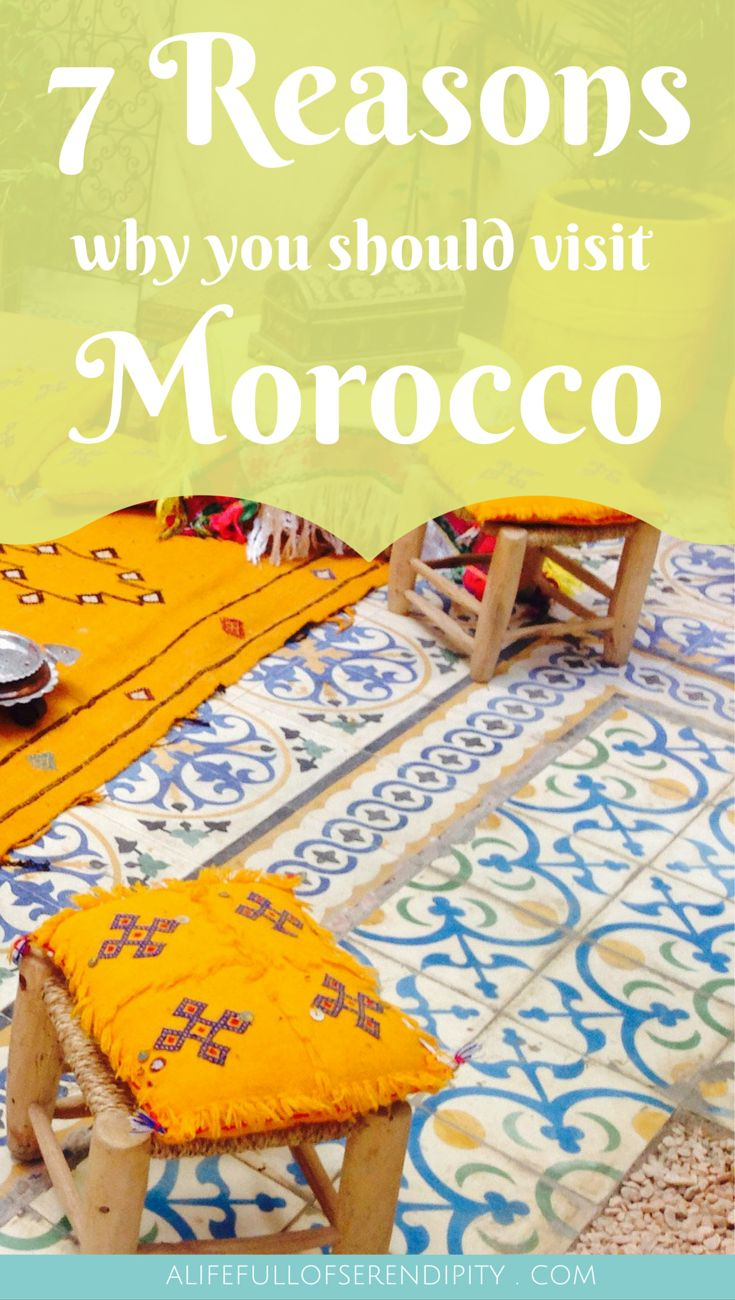 7 Reasons why you should visit Morocco // Reasons to visit Morocco: Few destinations on the planet offer the diversity of Morocco. From its miles of coastline to the ancient cities and towering Atlas Mountains, you'll be guaranteed an unforgettable experience. If you're not convinced, take a look at these reasons why you should visit Morocco! Click on the Pin to find out more!