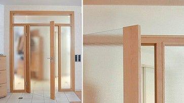Wood-glass, sidelights, fanlight glass mastercarre, flush - C37 - modern - interior doors - miami - Bartels Exclusive Designer Doors