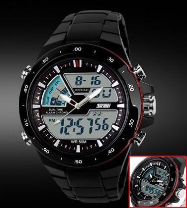 Relogio Masculino Skmei Men Sport Watch Waterproof Silicone Casual Quartz-Watch Digital S Shock Military Sports Men's Watches