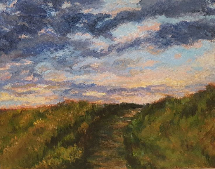 Hilltop Clouds Etsy Rubysalonoilpainting