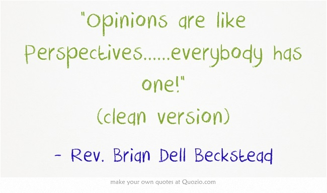 Opinions are like Perspectives......everybody has one! (clean version)