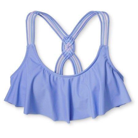 Women's Macrame Back Flounce Bikini Top - Xhilaration™ : Target