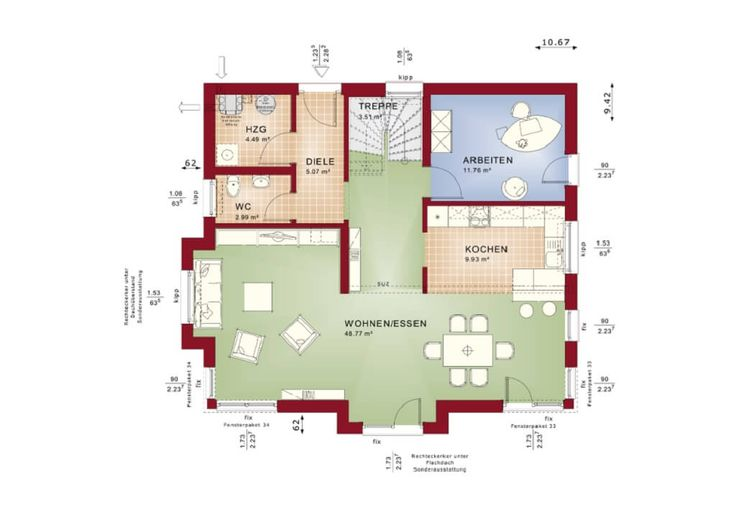 die besten 25 offene wohnk che ideen auf pinterest offene k che k chen fensterbank und. Black Bedroom Furniture Sets. Home Design Ideas