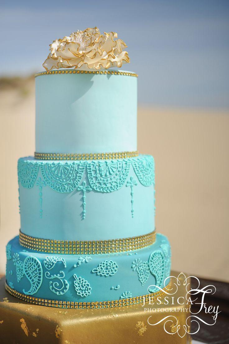 1000 Ideas About Turquoise Wedding Cakes On Pinterest