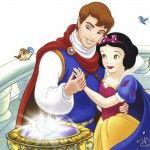 Romantic Disney Princess Snow White and The Prince Wallpaper