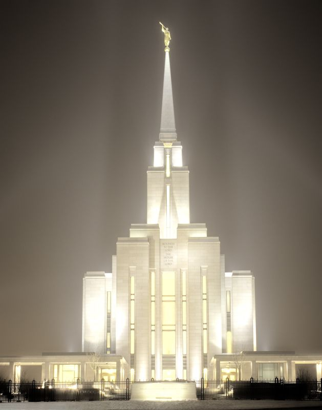 There is a reason these temple's glow... and it isn't just the lights! (Oquirrh Mountain Temple, The Church of Jesus Christ of Latter-Day Saints).