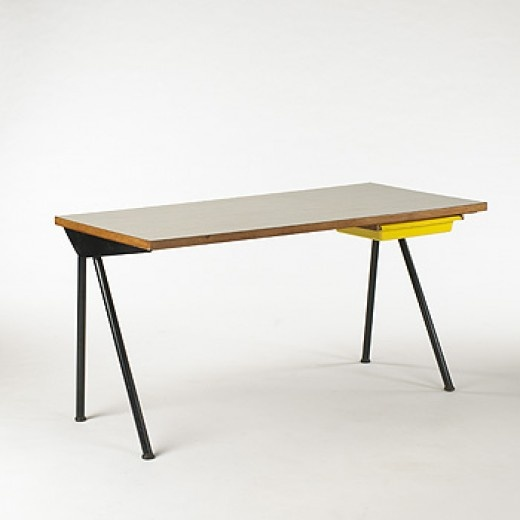 Jean Prouve desk from the Cite Universitaire, France, 1954.