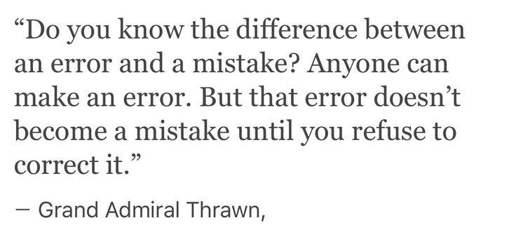 Grand Admiral Thrawn quote.