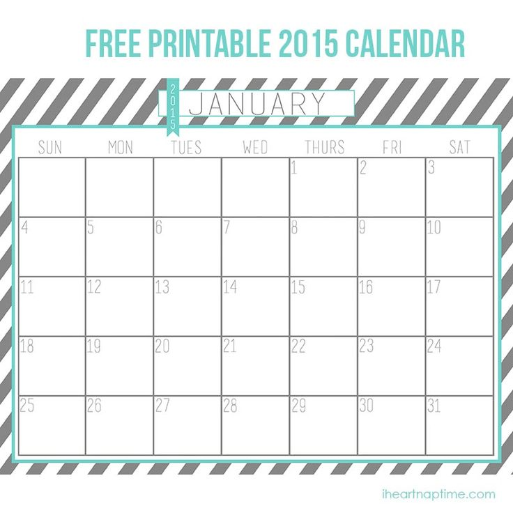 2015 free printable calendar on iheartnaptime.com -perfect for getting organized in the New Year!