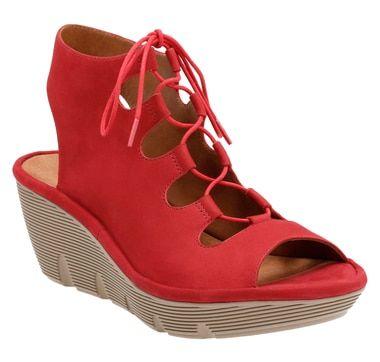 Clarks Clarene Grace Ghillie-Tie Wedge Sandal