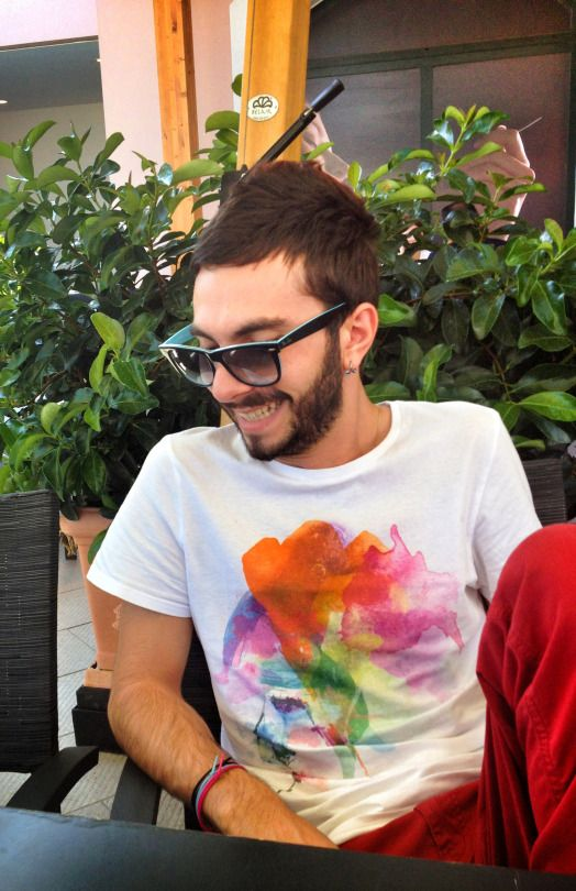 alex martini in vale design t-shirt