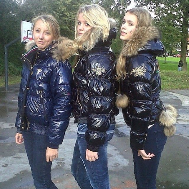 sexy girls in their puffy nickelson jackets.