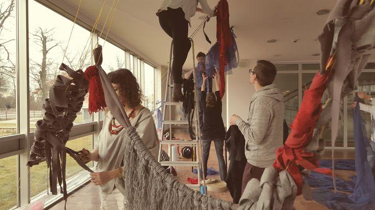 Luty 2016, warsztaty z tkaniny artystycznej