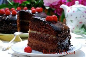 TORT cu ciocolata, zmeura si lamaie pentru STEAUA!