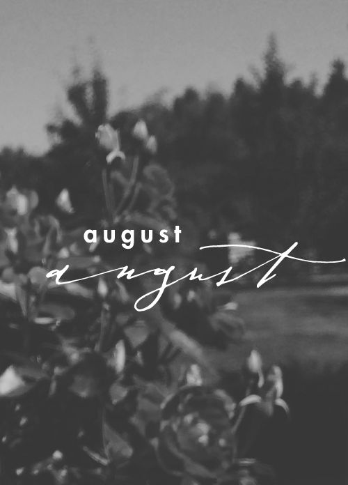 August - calligraphy by Fox and Flourish