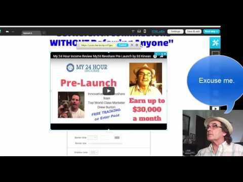 My24 Revshare  Landing Page for My 24 Hour Income Review by Ed Kirwan Pa...