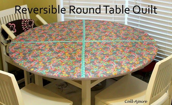 15 best round quilted tablecloths images on pinterest for Round table runner quilt pattern
