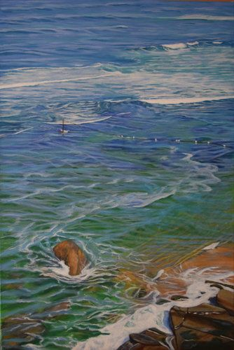 Artwork by Carole Elliott. Her painting is included in Art and the World of Nature; see it at www.ArtsyShark.com.