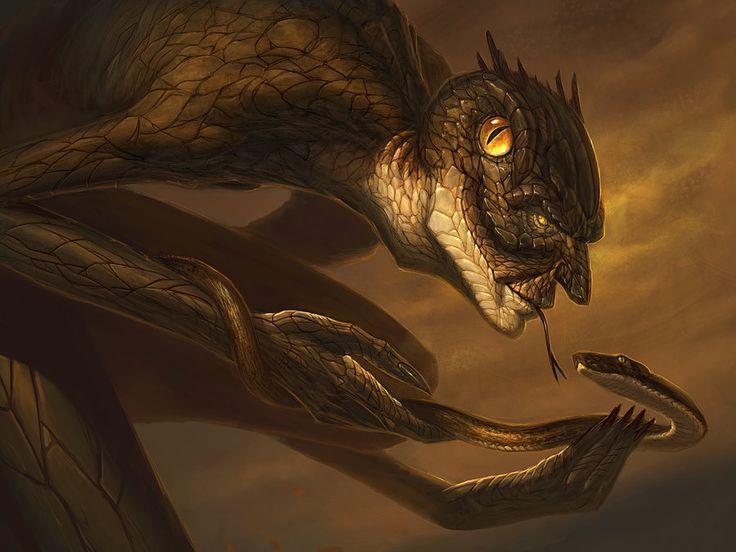 Yig - Father of Serpents by faxtar.deviantart.com on @deviantART