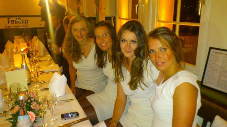 Czech Tennis Fed Cup team - Barbora Strycova, Iveta Benesova, Lucie Hradecka, Petra Kvitova