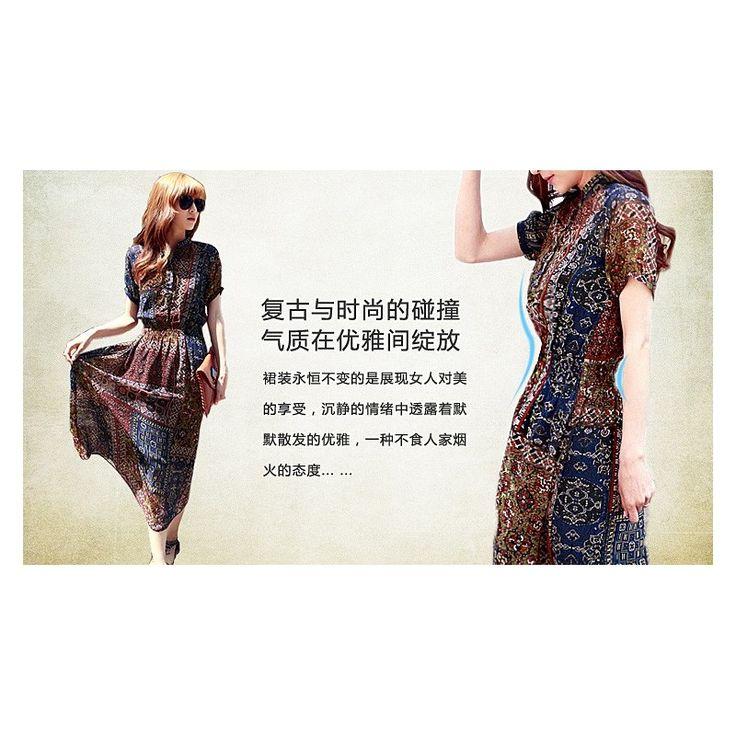 Chiffon Printed Maxi Dress LD178 Model  75720 Condition  New  Chiffon Print Bust - 86-92cm Length - 123cm Sleeve 27cm Waist - 54-78cm With Inner 250grams Retail IDR240,000reseller IDR180,000wholesaler IDR150,000