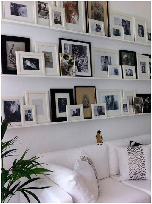 Colgar cuadros y fotos de forma decorativa | Decoratrix | Decoración, diseño e interiorismo