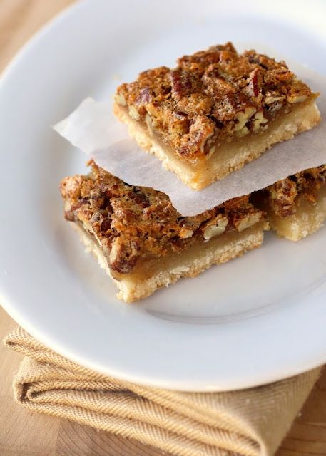 Love pecan pie.  Bars are even better.