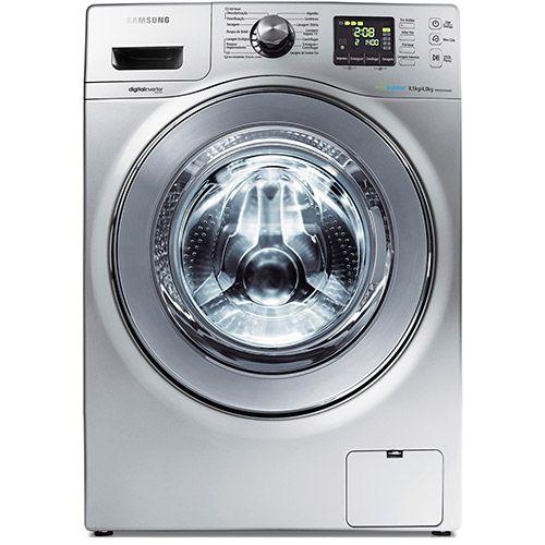 Lavadora e Secadora Samsung Siene WD856 8.5Kg Prata - Shoptime